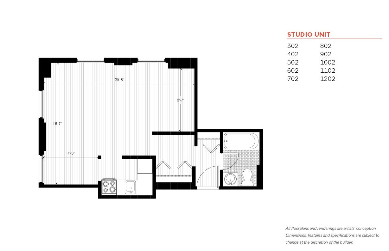 Le 1 Br Floorplans