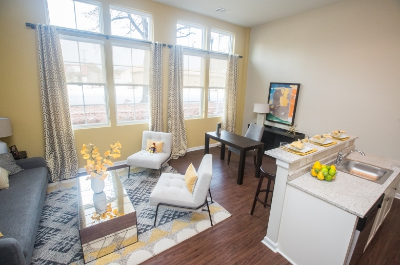 Open concept living space at 612 Whaley