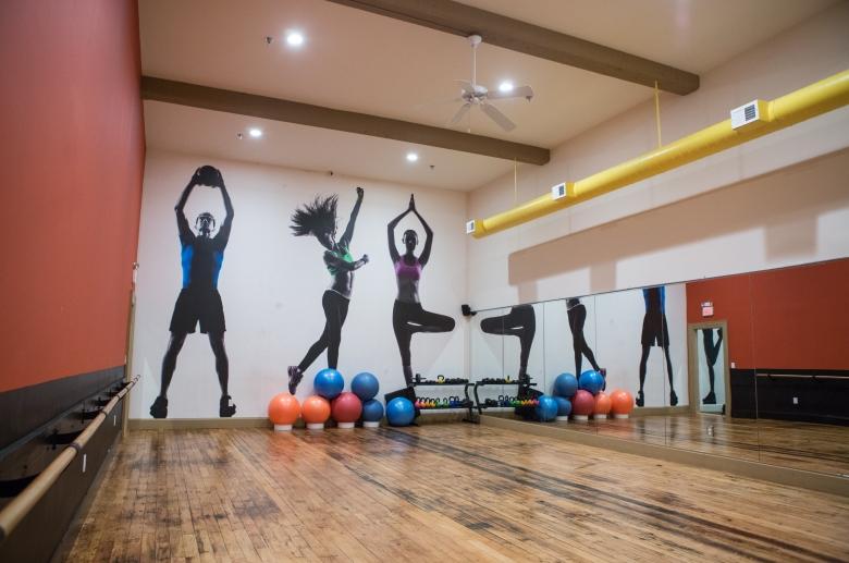 Yoga and complimentary fitness studio