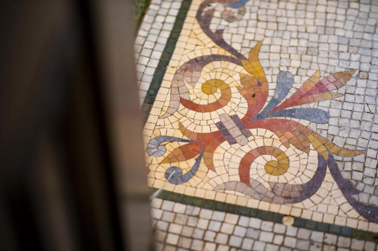 1316 Pine Street mosaic floors