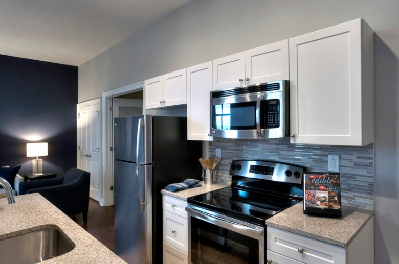 The Residences at The R. J. Reynolds Building Winston-Salem kitchen