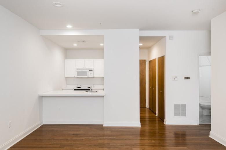 kitchen with hardwood flooring at 1600 Walnut