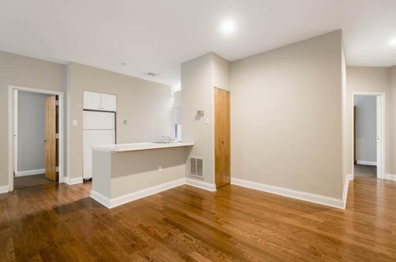 open concept kitchen at 1600 Walnut