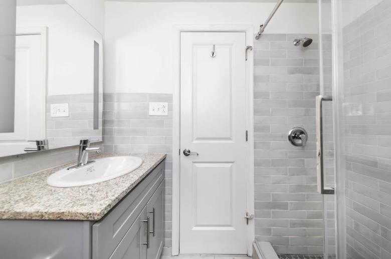 Modern spa-style bathroom
