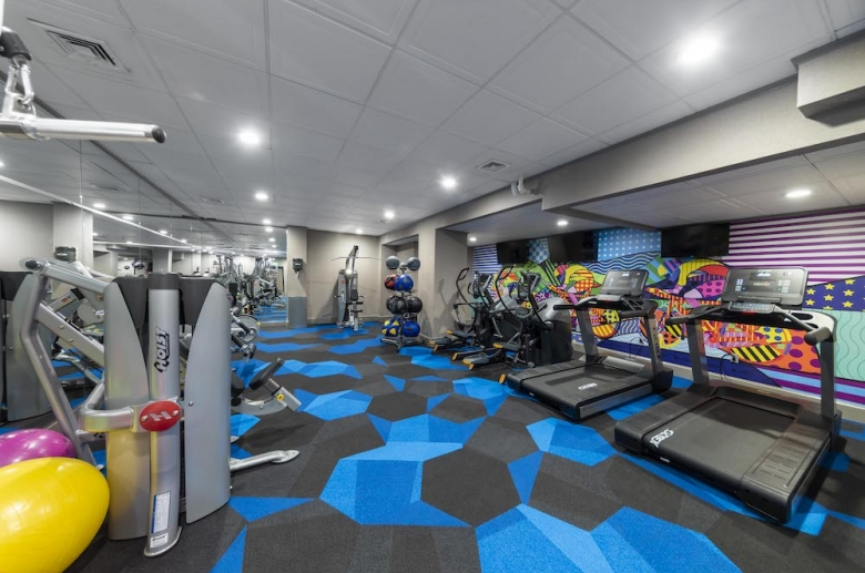State-of-the-art on-site fitness center