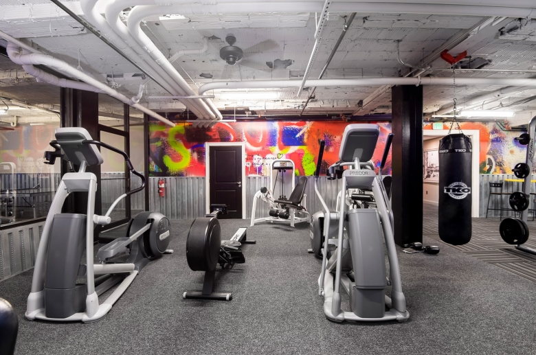equipment in the gym