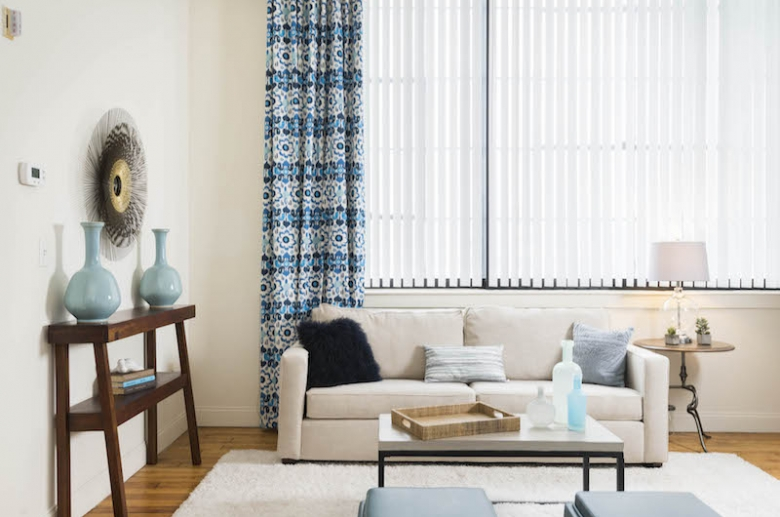 Furnished sample living spaces