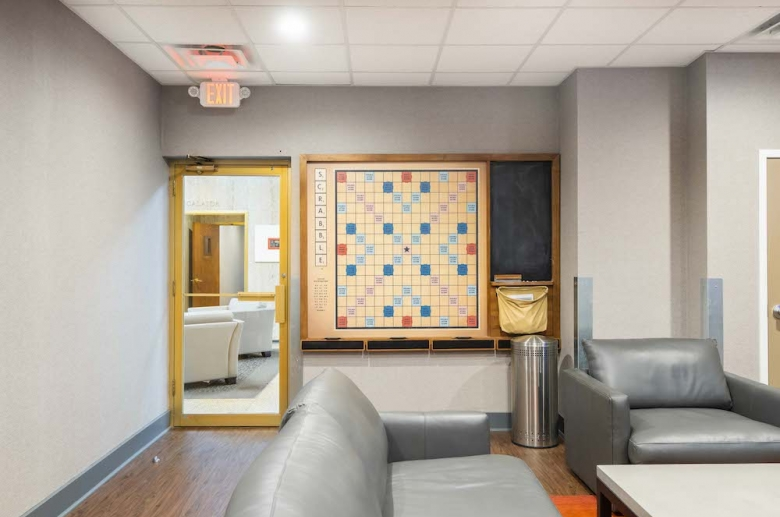 Resident lounge with table games