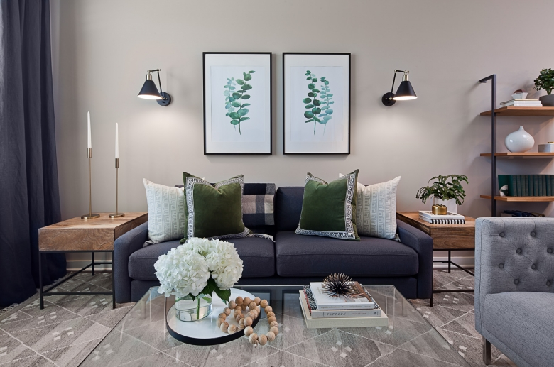 Fully furnished living space