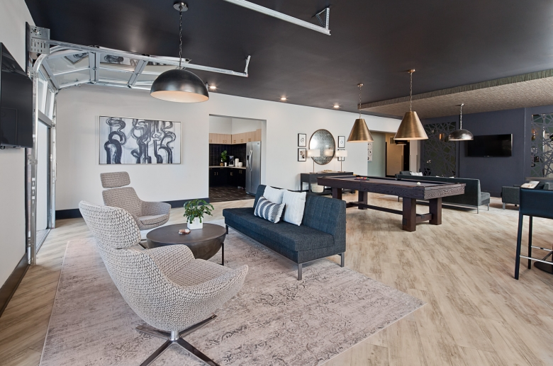 Resident lounge with billiards and games