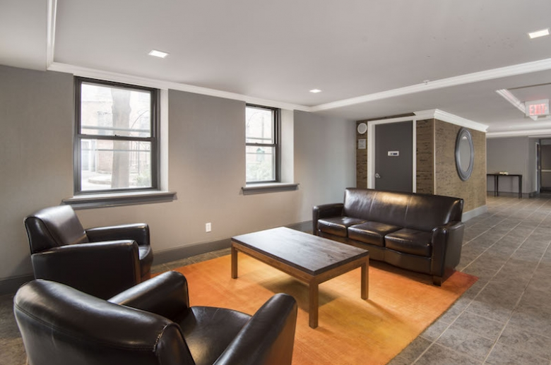 Resident lounge with leather seating