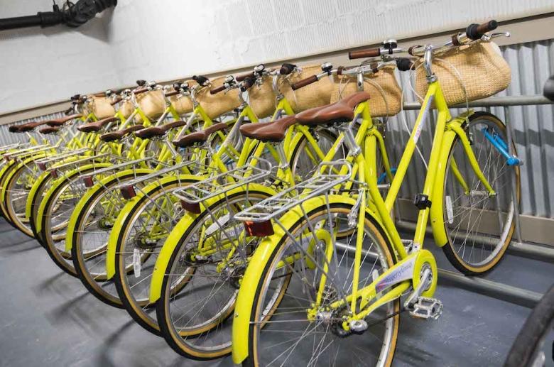 Bike room and storage