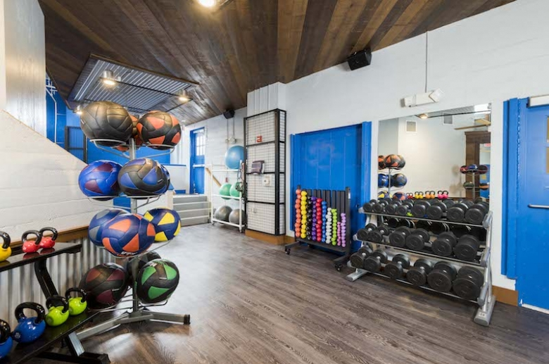 Fully equipped on-site fitness center
