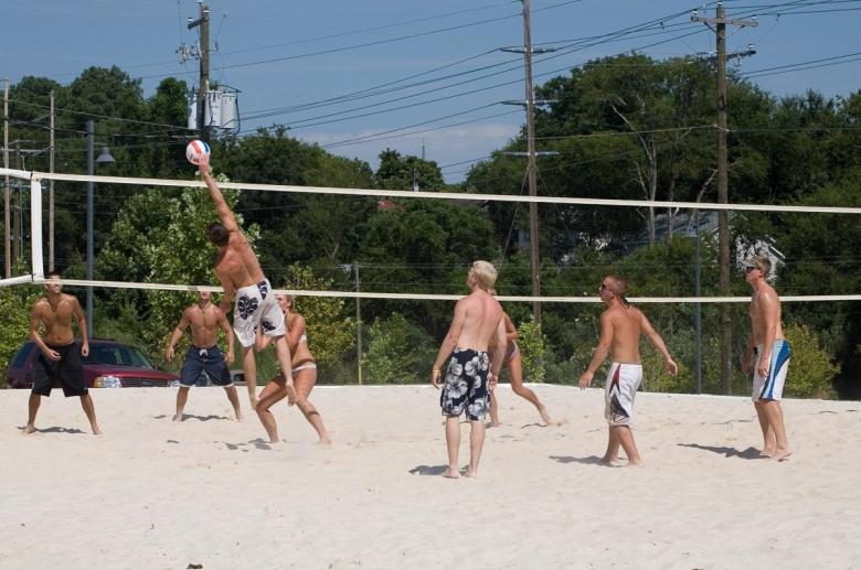Sand volleybal court
