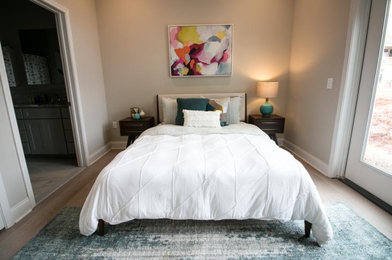 Furnished bedroom unit
