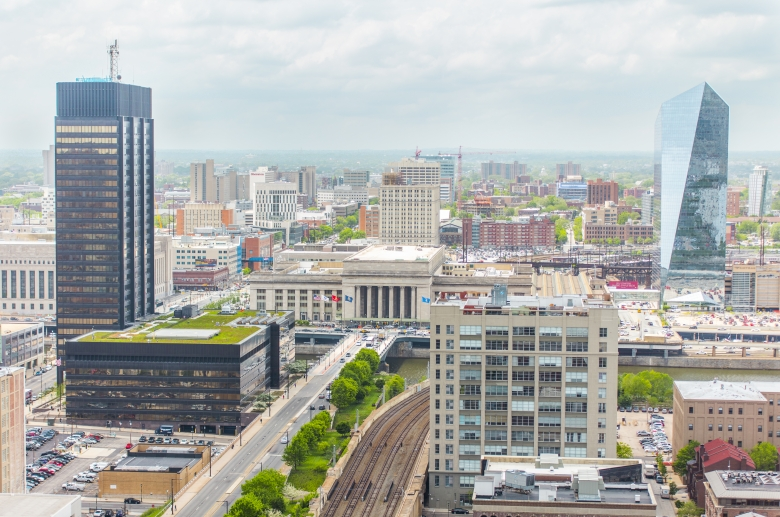 Beautiful views of the city from 1222 Arch Street