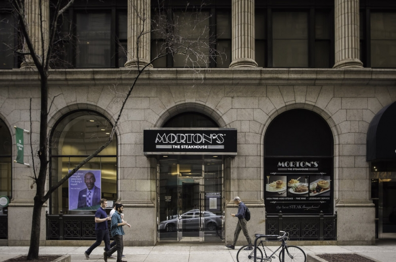 Retail and restaurant space includes Morton's Steakhouse