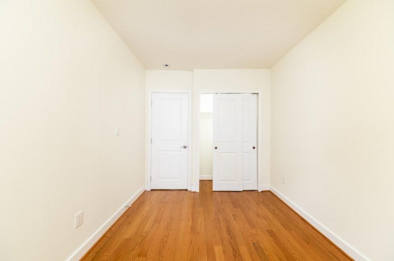 Bedroom at the end of the hallway