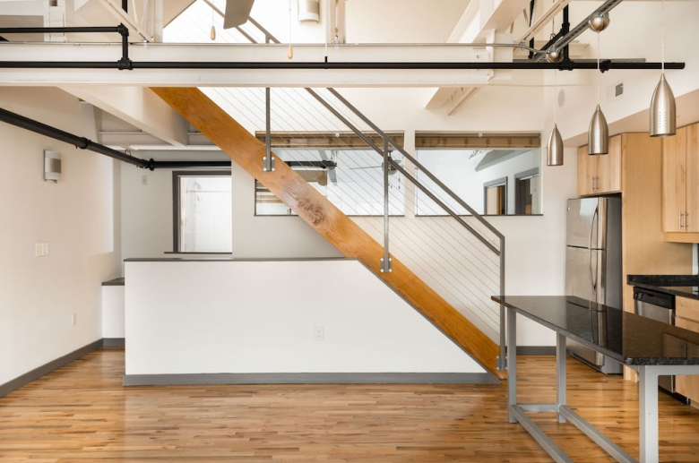 Plant 1 kitchen modern open staircase