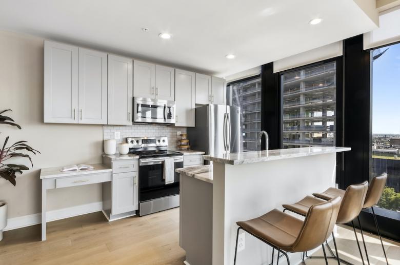 Riverwalk kitchen with built-in desk