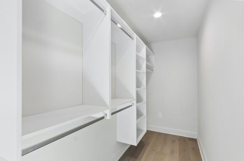 Riverwalk walk-in closet with shelving system