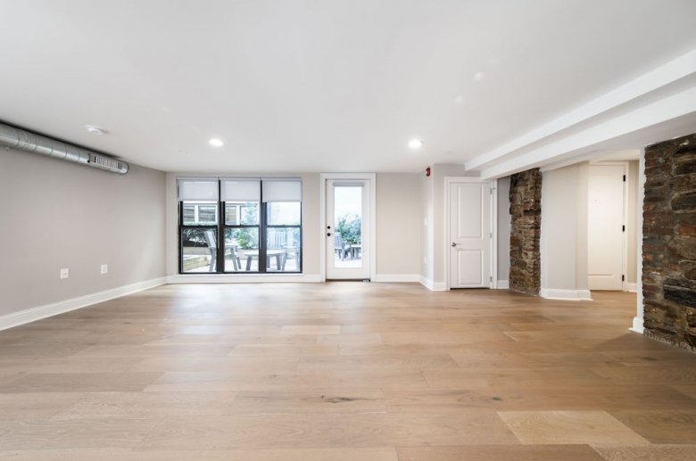 Expansive floorplan with balcony at Waterfront Apartments