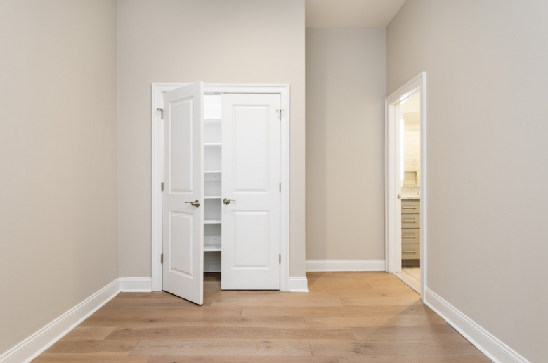 Main bedroom with closet and bathroom
