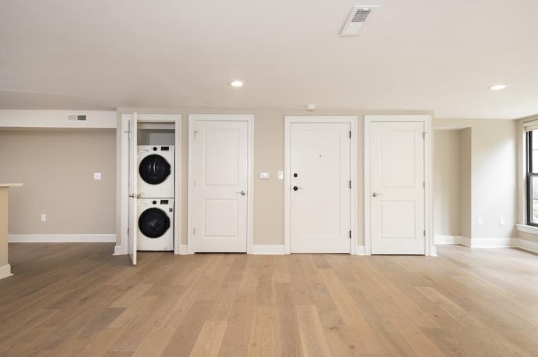 Open concept living areas with in-door washer & dryer