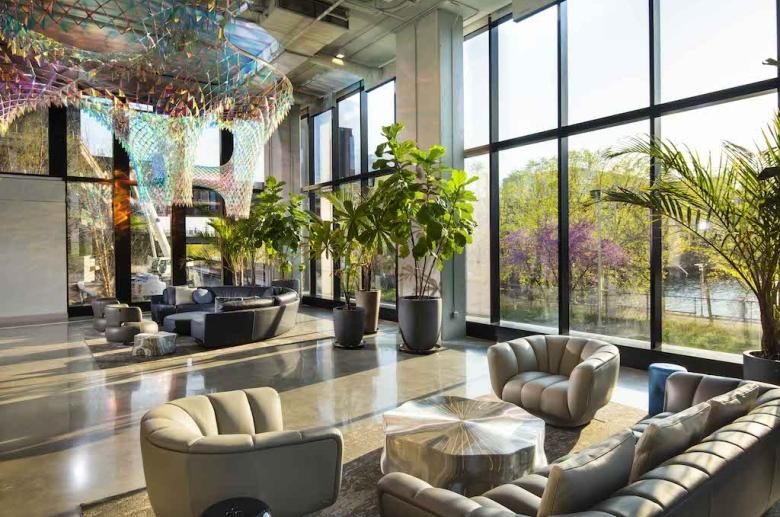 Riverwalk lobby