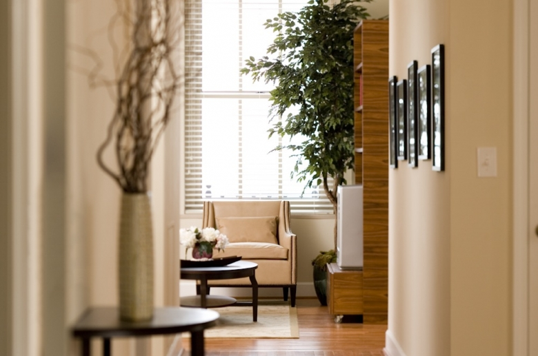 Living spaces with beautiful hardwood flooring