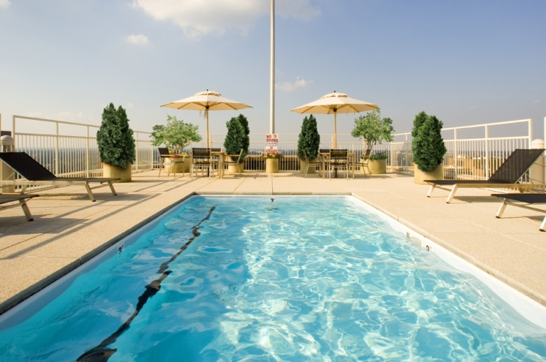 Rooftop pool with terrace