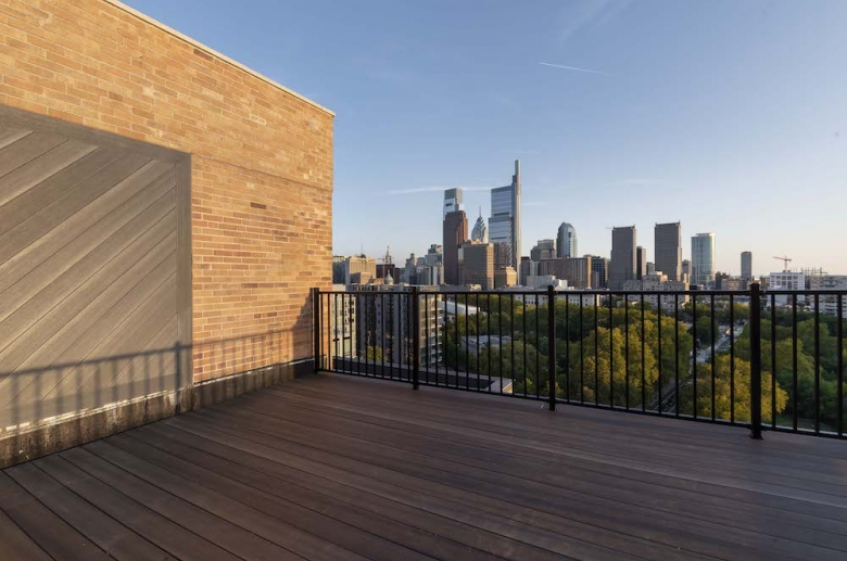 Resident deck with stunning city views
