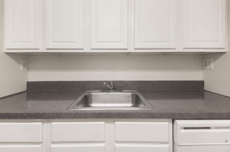 Bright white updated kitchen