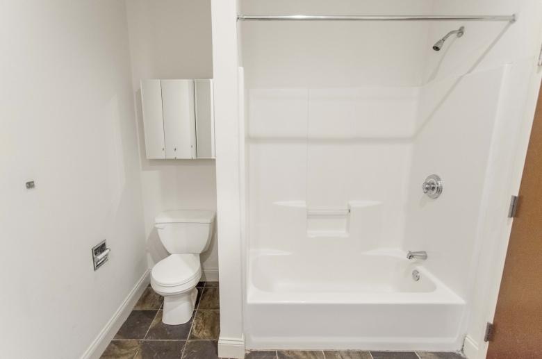 1222 Arch Street model unit modern bathroom