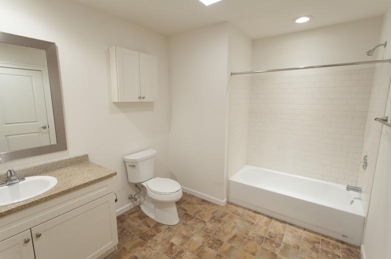 Updated modern bathroom