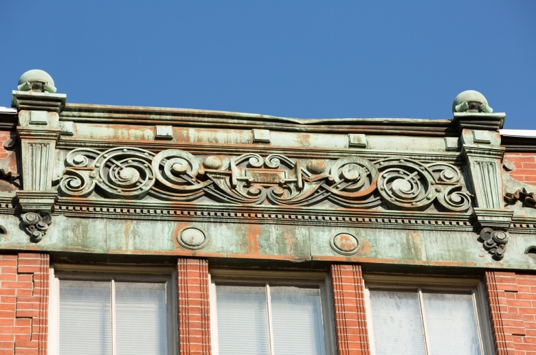 717-729 Spruce architectural detail