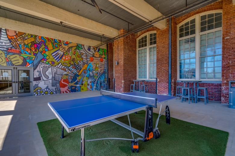 The Cottages at The Mills ping-pong table