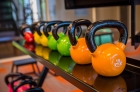 Free weights at the 612 Whaley fitness center