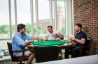 Lounge with poker table at 612 Whaley