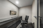 Resident office space with oversized monitor