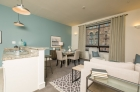 Open concept kitchen, dinning, and living space