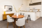 Dinning and kitchen areas at 915 Main Street
