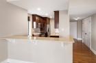 Breakfast bar with granite countertop