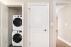 In-door stackable washer and dryer unit