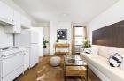 Adelphia House studio kitchen and living space