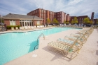Large outdoor pool and grill/picnic area