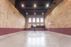 Polished concrete basketball court
