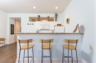 Barstool kitchen island seating