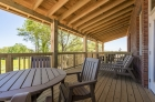 Spacious cottage-styled private patios at The Cottages at The Mills