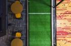 Indoor bocce court
